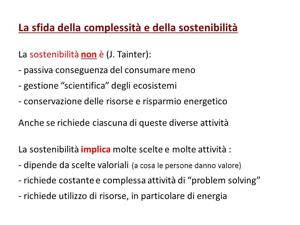 La sfida della complessità e della sostenibilità