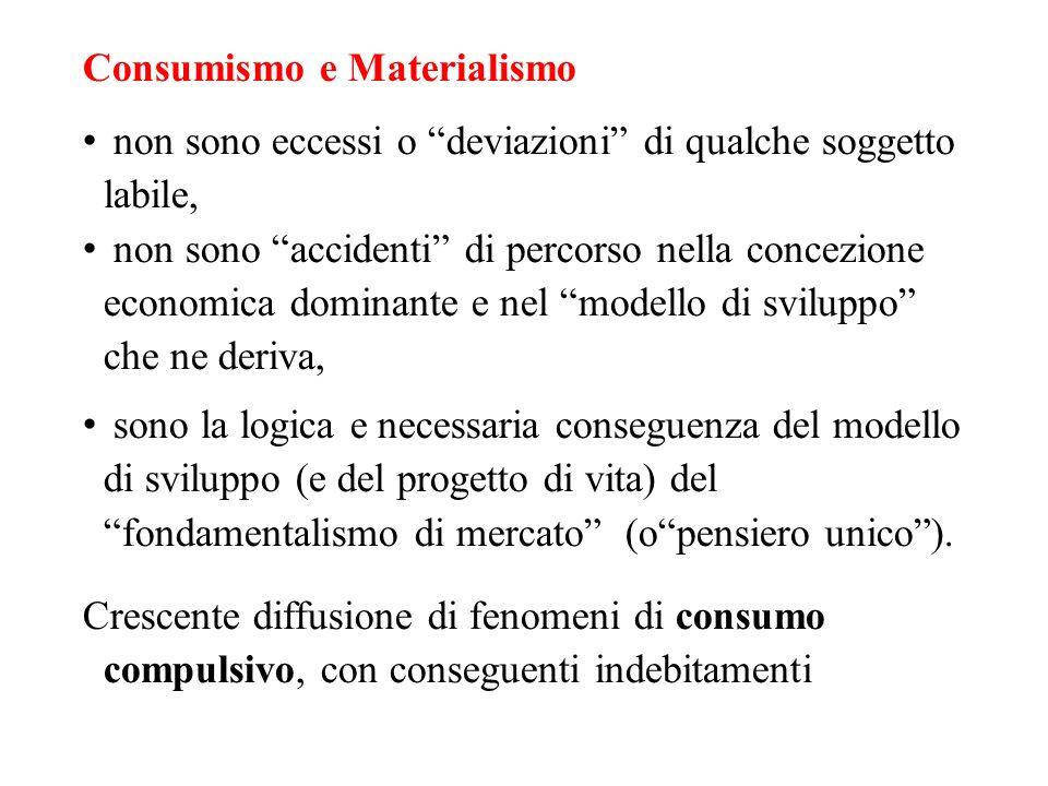 Consumismo e Materialismo