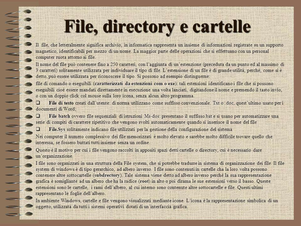 File, directory e cartelle