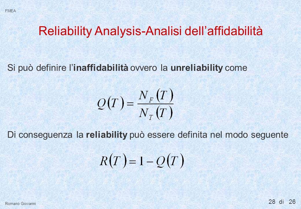 Metodi di analisi per l'affidabilità di sistemi.