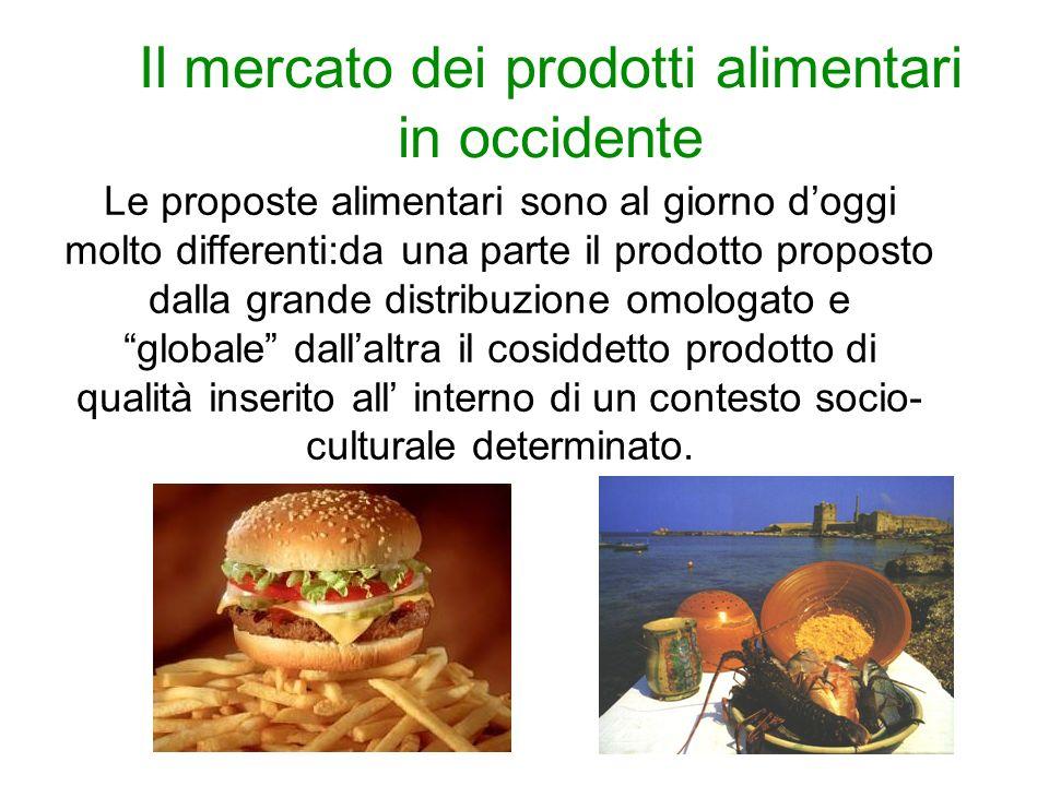 Il mercato dei prodotti alimentari in occidente