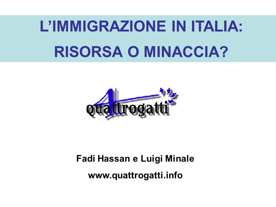 L'IMMIGRAZIONE IN ITALIA: Fadi Hassan e Luigi Minale