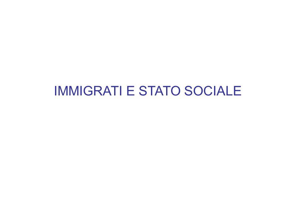 IMMIGRATI E STATO SOCIALE