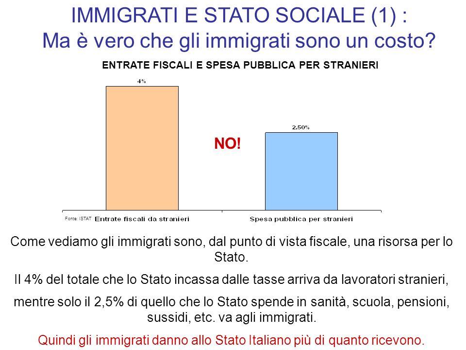 IMMIGRATI E STATO SOCIALE (1) :