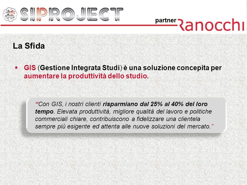 La Sfida GIS (Gestione Integrata Studi) è una soluzione concepita per aumentare la produttività dello studio.