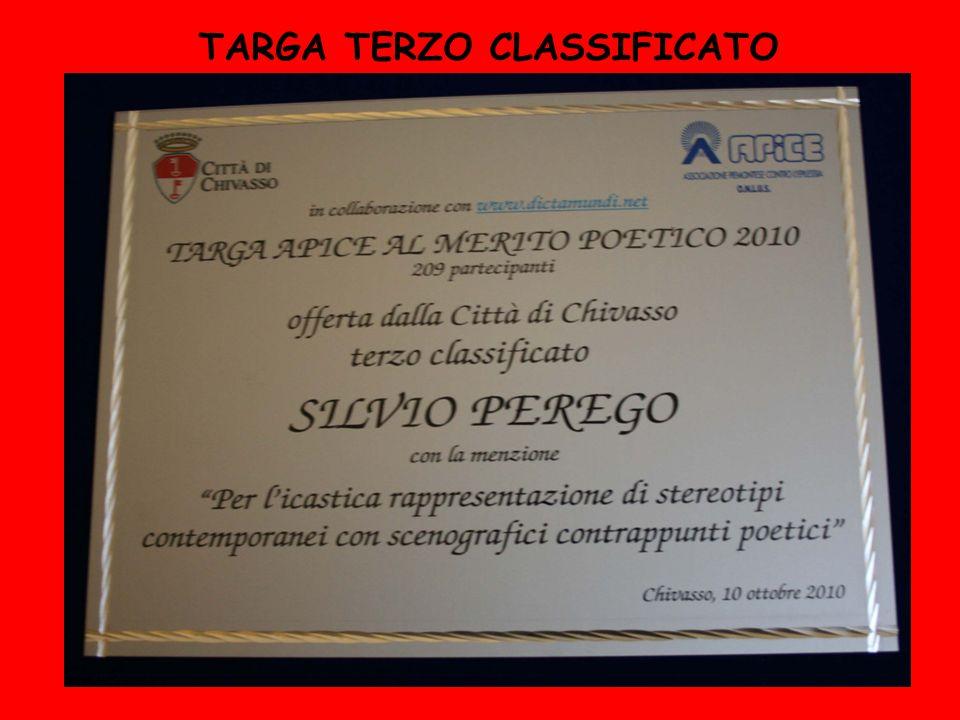 TARGA TERZO CLASSIFICATO