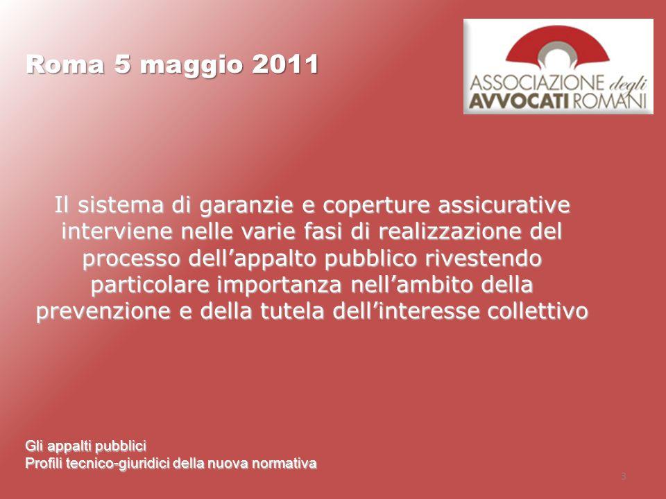 Roma 5 maggio 2011