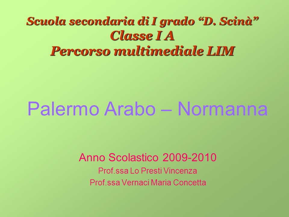 Palermo Arabo – Normanna