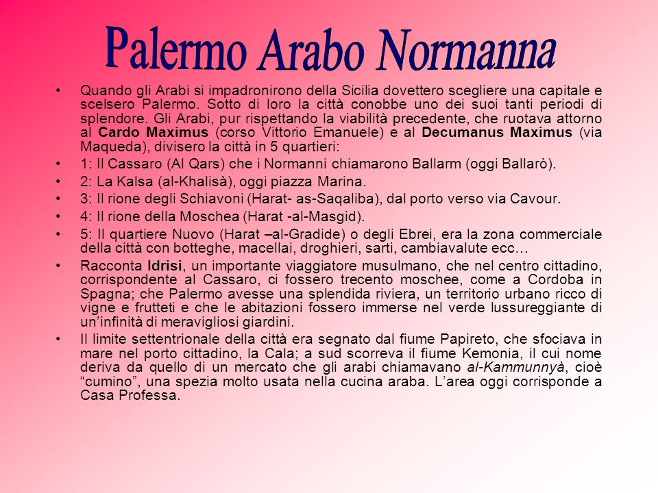 Palermo Arabo Normanna