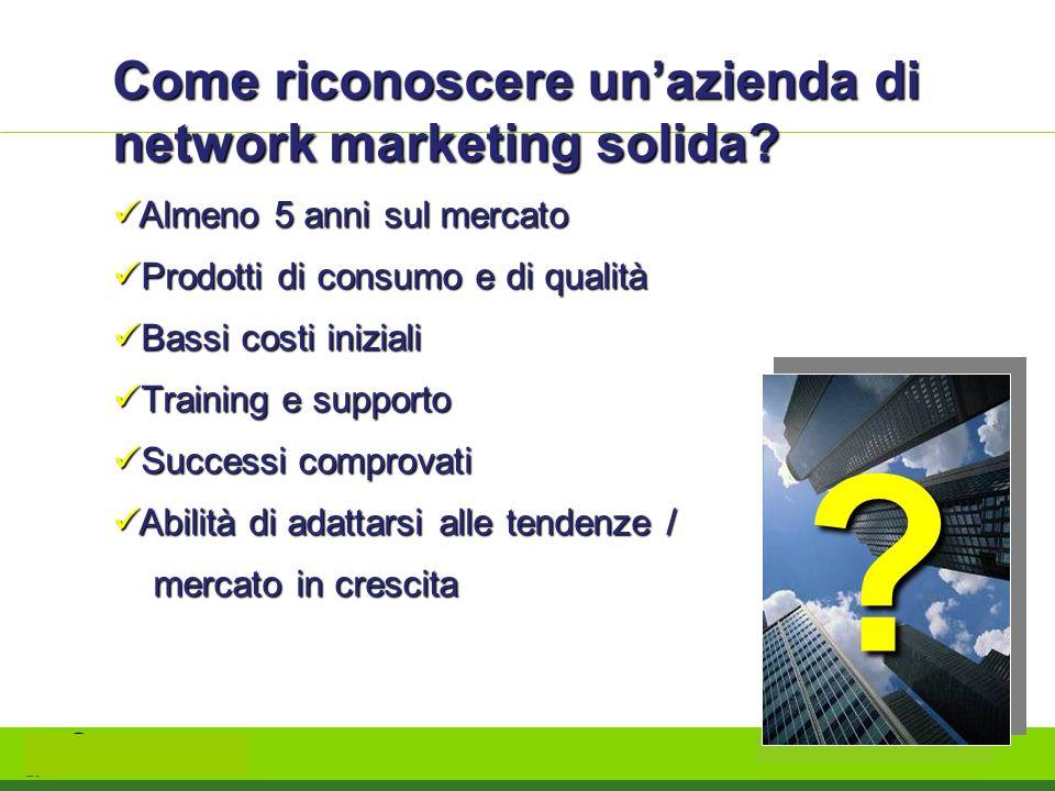 Come riconoscere un'azienda di network marketing solida