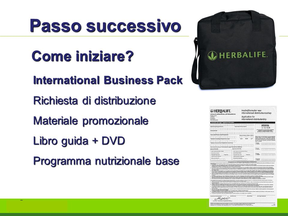 Passo successivo Come iniziare International Business Pack