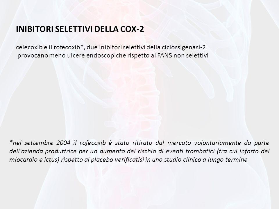 INIBITORI SELETTIVI DELLA COX-2