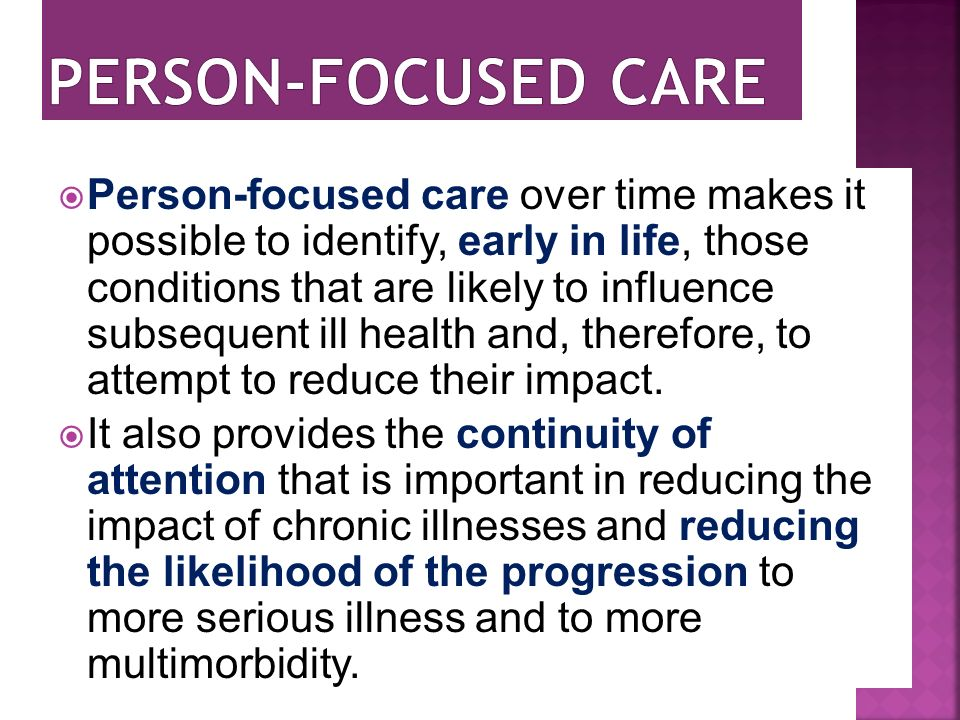 Person-focused care