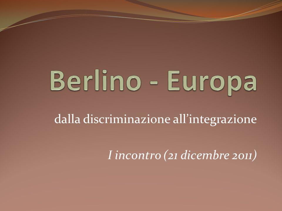 dalla discriminazione all'integrazione I incontro (21 dicembre 2011)