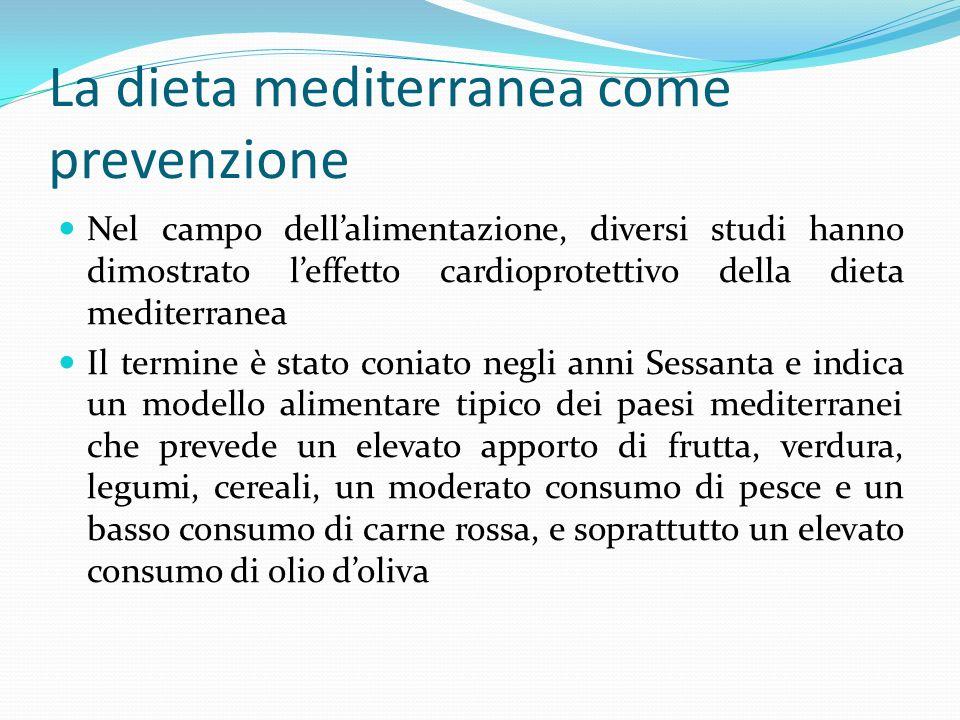 La dieta mediterranea come prevenzione