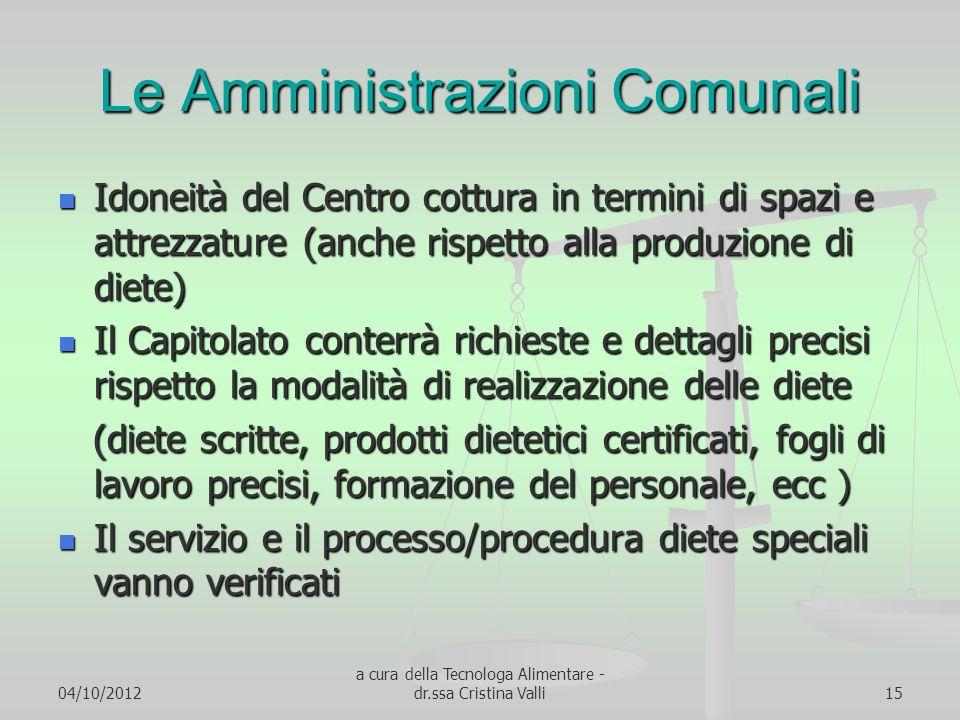 Le Amministrazioni Comunali