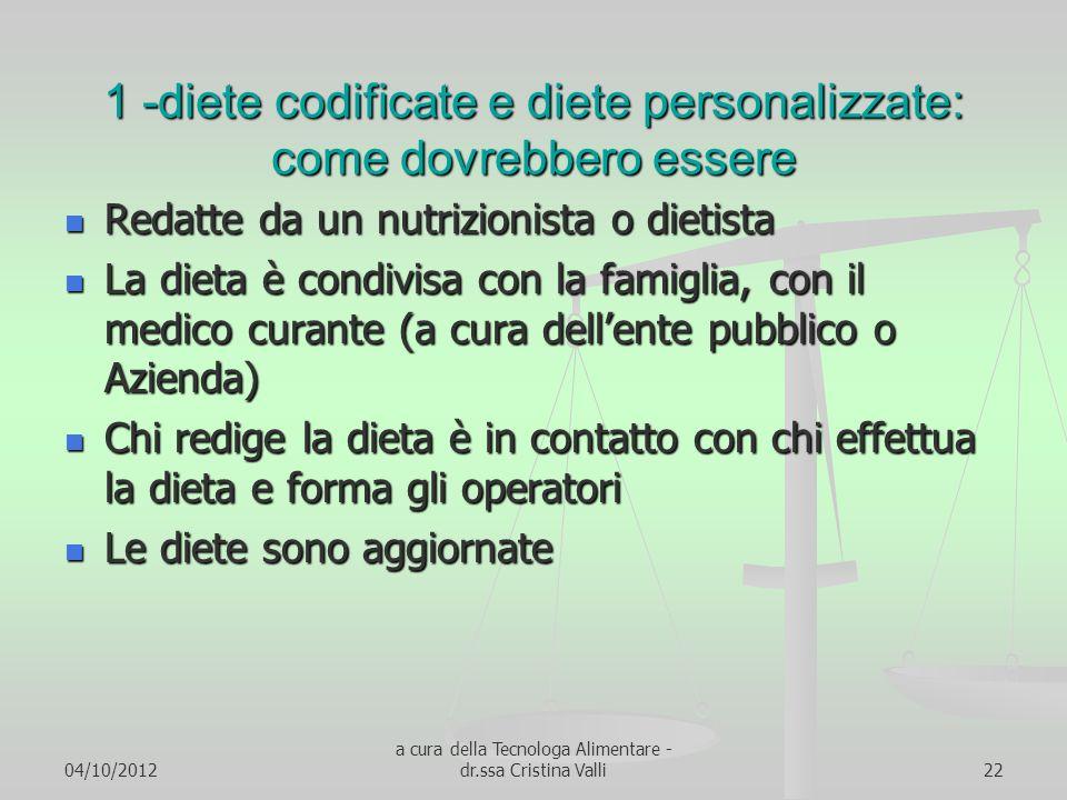 1 -diete codificate e diete personalizzate: come dovrebbero essere