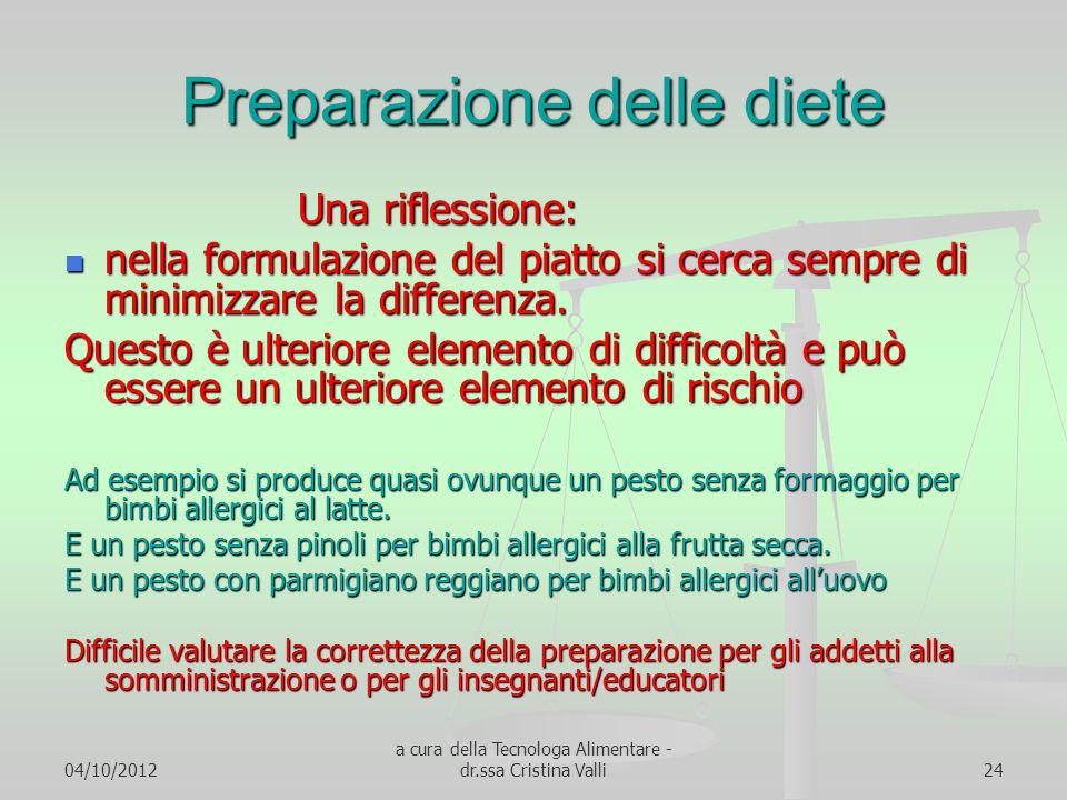 Preparazione delle diete
