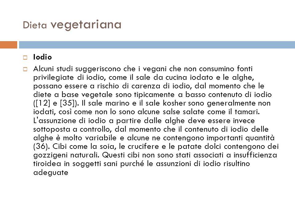 Dieta vegetariana Iodio