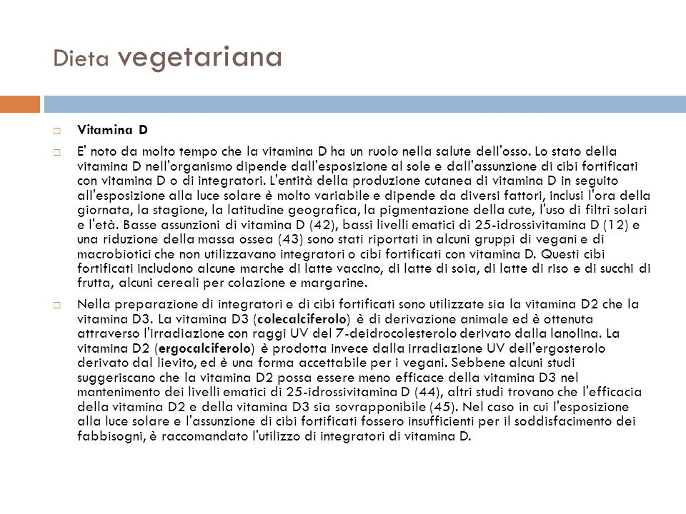 Dieta vegetariana Vitamina D