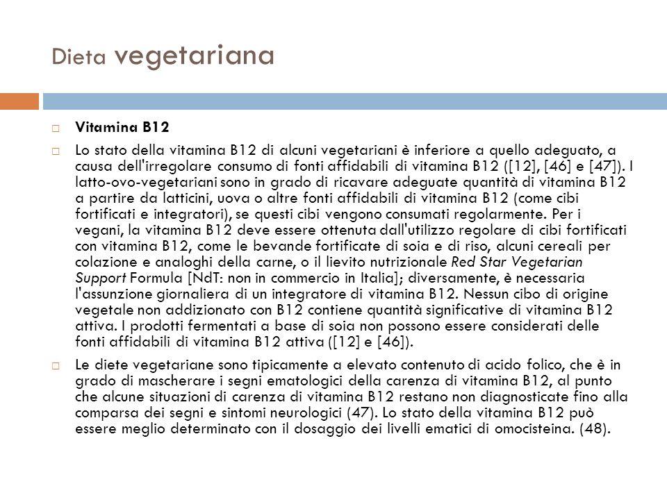 Dieta vegetariana Vitamina B12