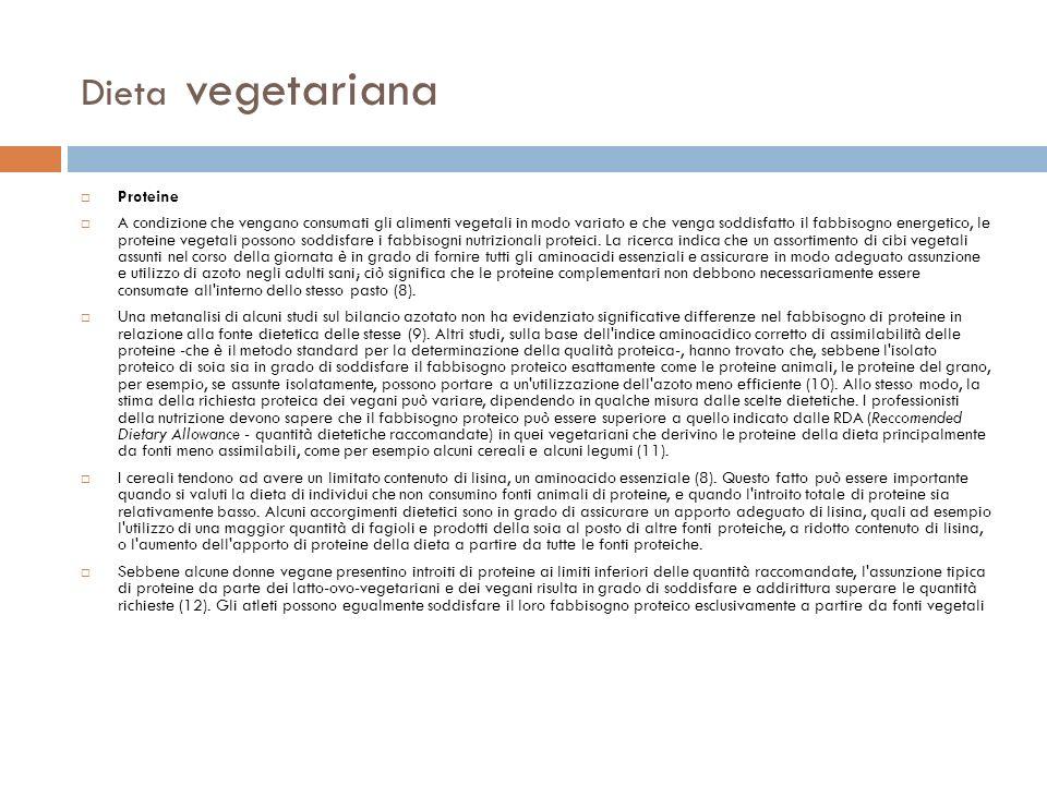 Dieta vegetariana Proteine