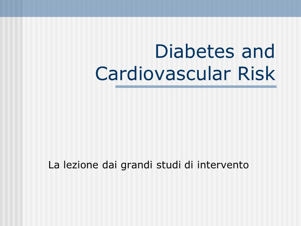 Diabetes and Cardiovascular Risk