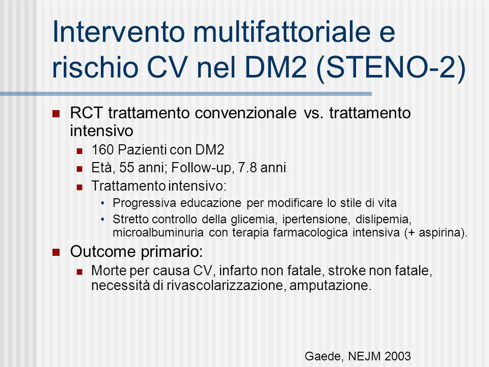 Intervento multifattoriale e rischio CV nel DM2 (STENO-2)