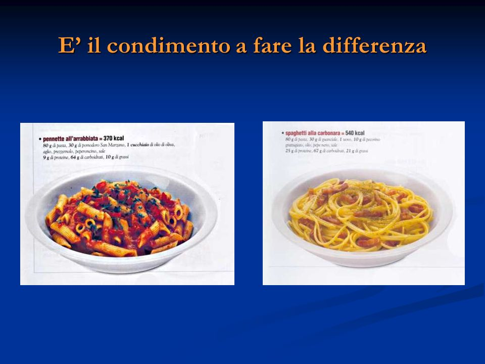 E' il condimento a fare la differenza