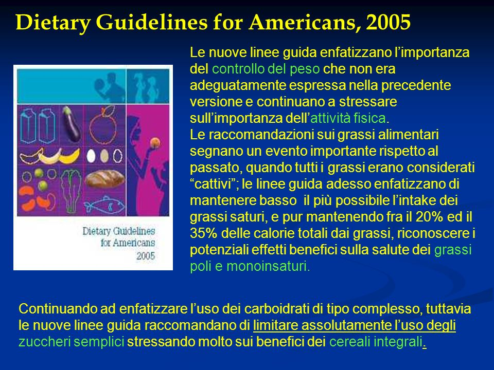 Dietary Guidelines for Americans, 2005