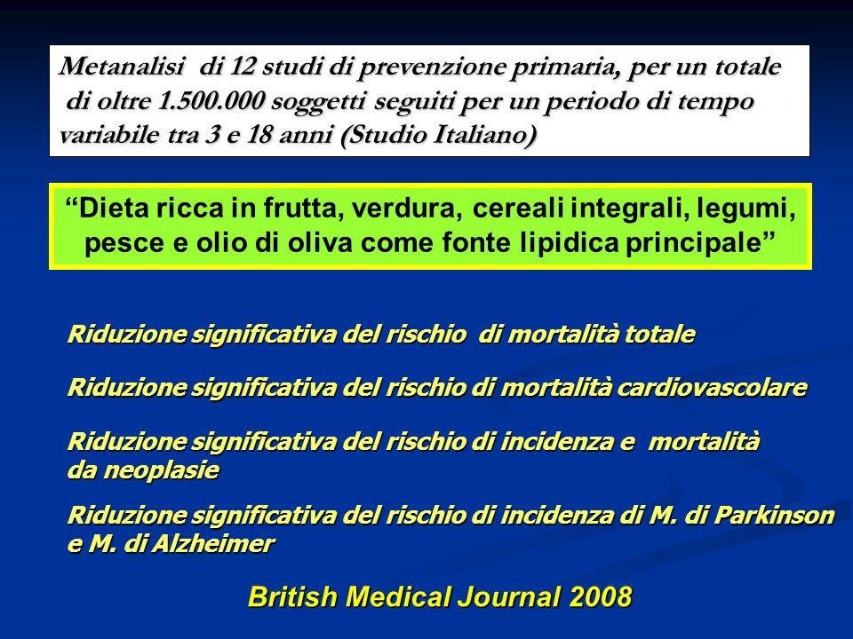 VERSUS Metanalisi di 12 studi di prevenzione primaria, per un totale