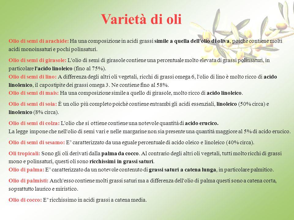 Varietà di oli