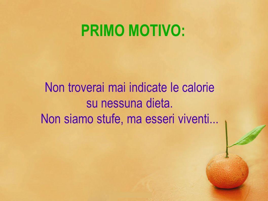 PRIMO MOTIVO: Non troverai mai indicate le calorie su nessuna dieta.
