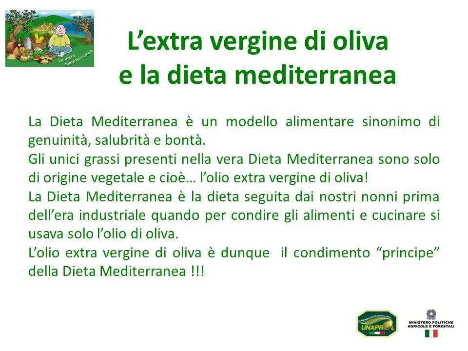 L'extra vergine di oliva e la dieta mediterranea