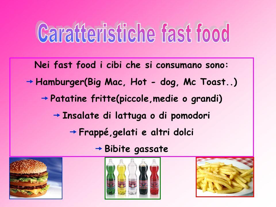 Caratteristiche fast food