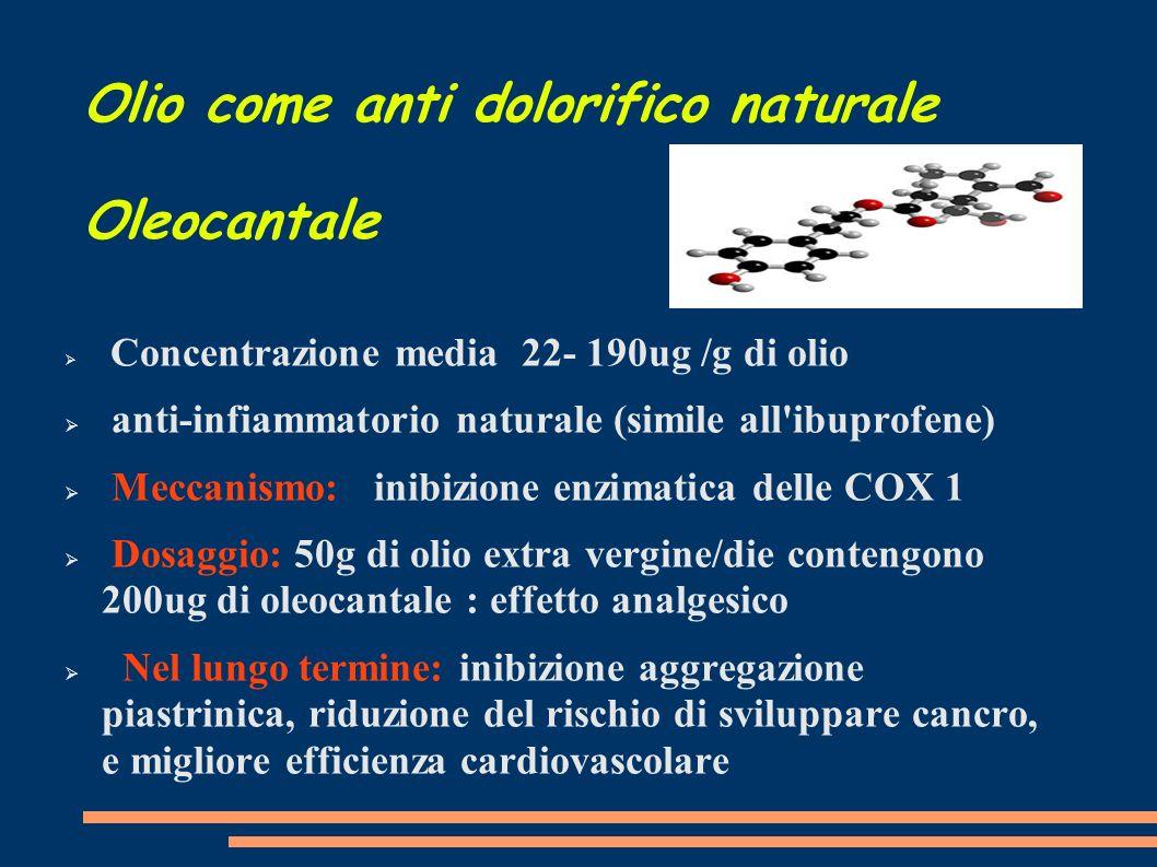 Olio come anti dolorifico naturale Oleocantale