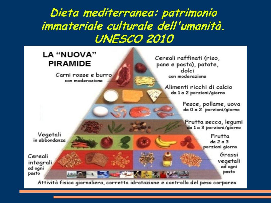 Dieta mediterranea: patrimonio immateriale culturale dell umanità