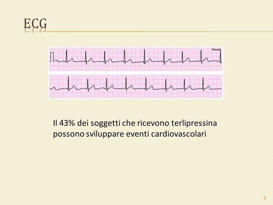 ECG Il 43% dei soggetti che ricevono terlipressina