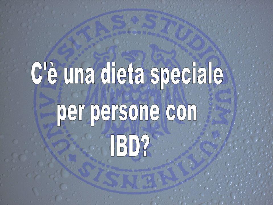 C è una dieta speciale per persone con IBD