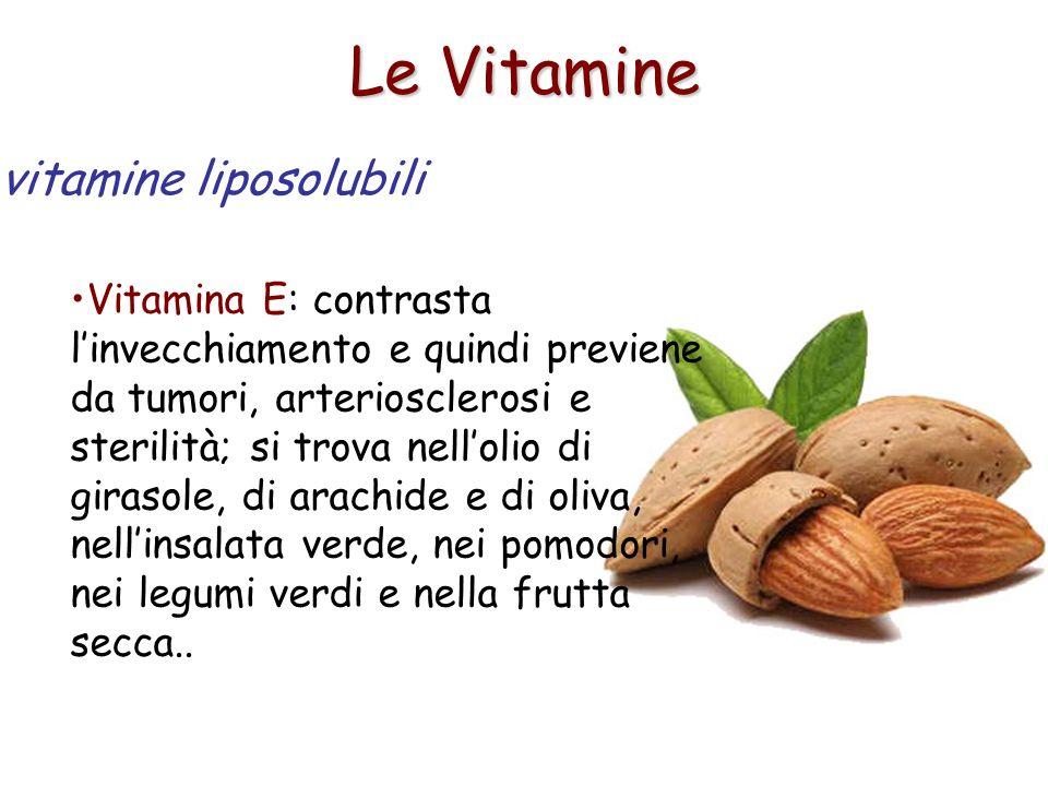 Le Vitamine vitamine liposolubili
