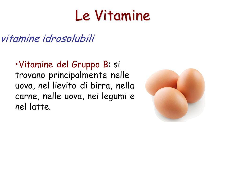 Le Vitamine vitamine idrosolubili