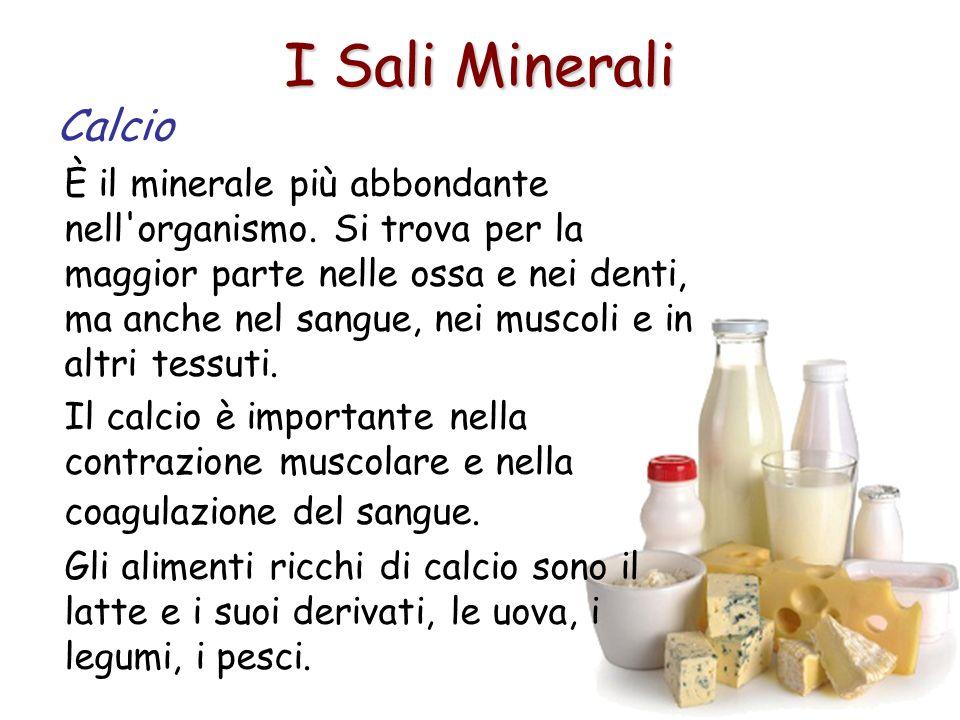 I Sali Minerali Calcio.