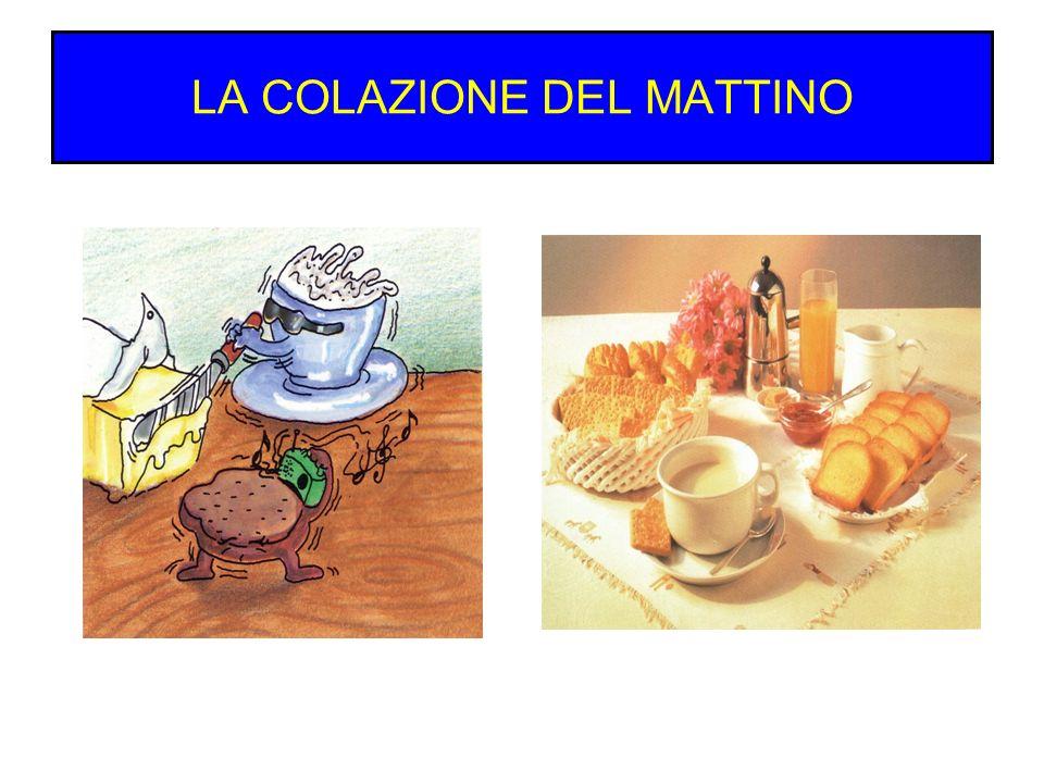 LA COLAZIONE DEL MATTINO