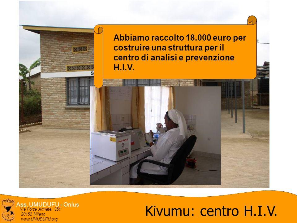 Kivumu: centro H.I.V. Abbiamo raccolto 18.000 euro per