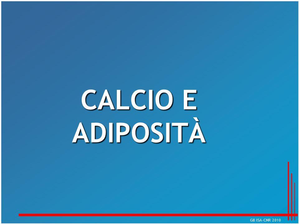 CALCIO E ADIPOSITÀ GB ISA-CNR 2010