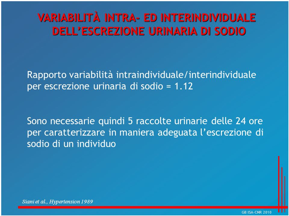 VARIABILITÀ INTRA- ED INTERINDIVIDUALE