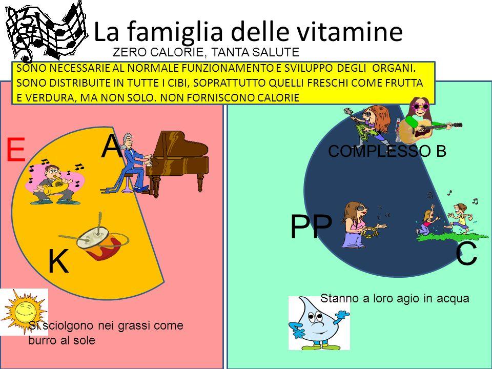 La famiglia delle vitamine