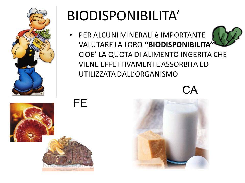 BIODISPONIBILITA' CA FE