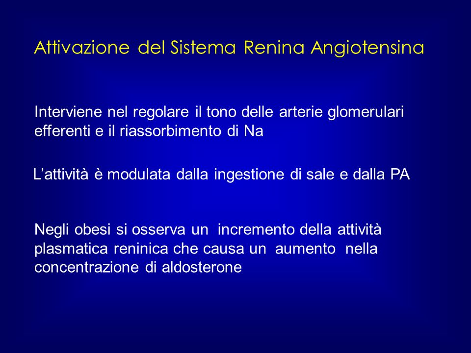 Attivazione del Sistema Renina Angiotensina