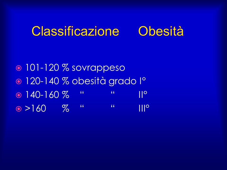 Classificazione Obesità
